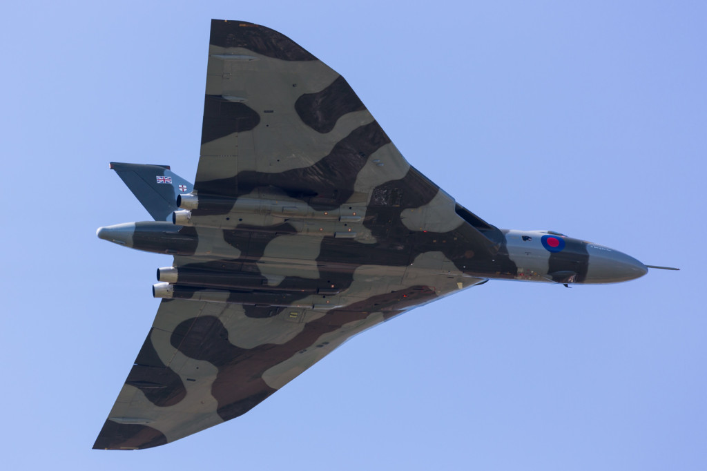 The Vulcan makes a tribute flypast